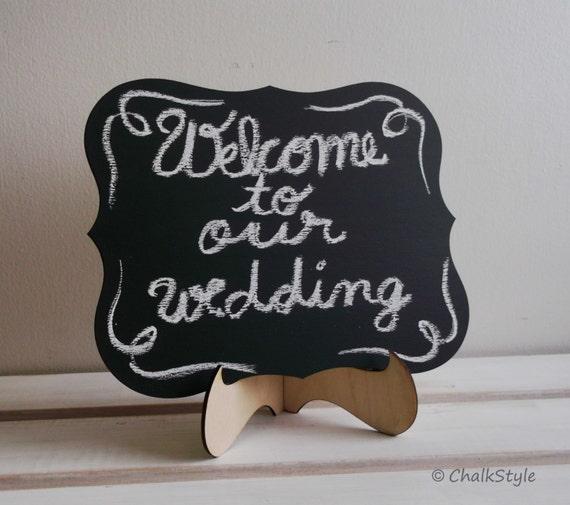 Wedding Chalkboard Rectangular Scroll Sturdy Wooden Chalk Board Wedding Sign Photo Prop Menu Table Centerpiece