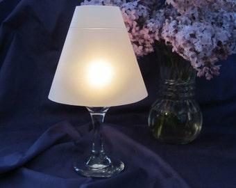 Vellum Wine Glass Luminary Shades - Set of 10