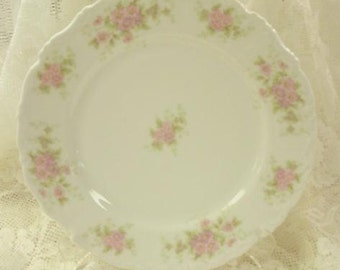 Vintage Plate Platter Limoges Roses Cottage Prairie Farmhouse Chic