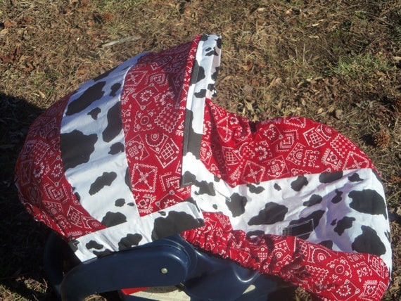 Bandana Cow Print Baby Car Seat Cover Infant By