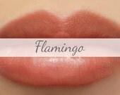"Vegan Mineral Lipstick Sample - ""Flamingo"" (semi-sheer coral color) lip tint, balm, lip colour"
