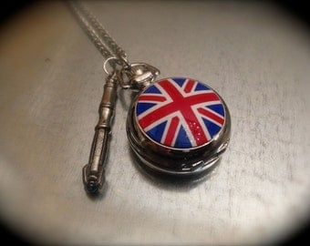 Inspired Sci Fi Weapon 11 and UK Pocket Watch Necklace