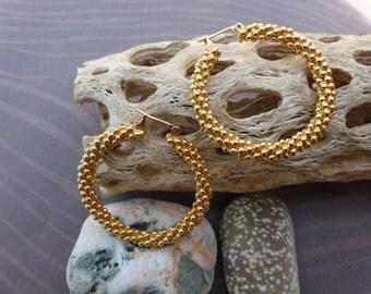 Large Gold Hoops pierced Earrings