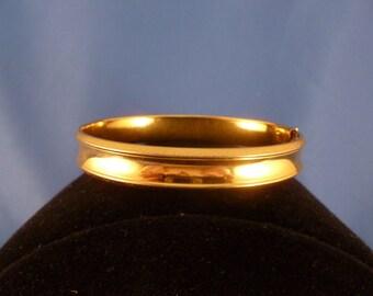 Gold Tone Hinged Bracelet