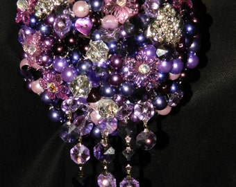 Glamour pearl and crystal bouquet