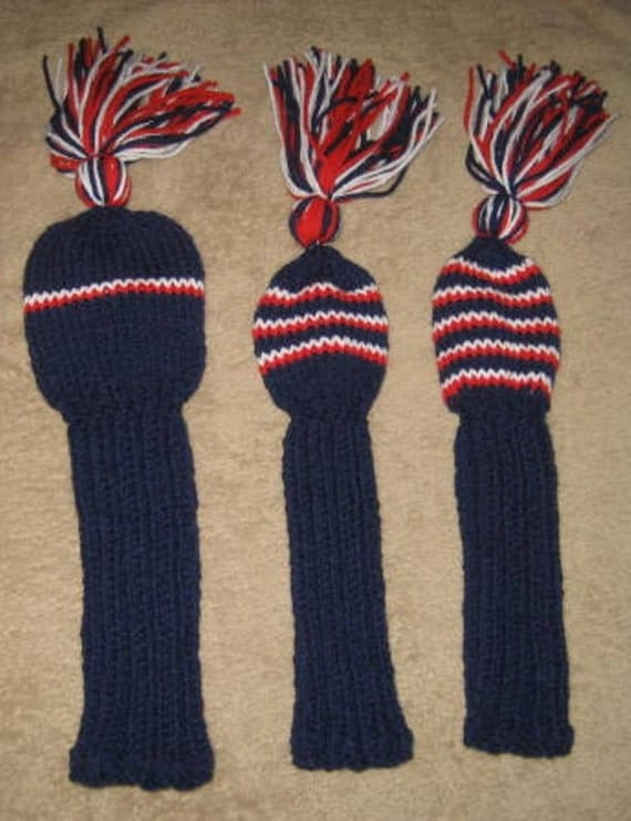 Items similar to Golf Club Head Covers, Hand Knit on Etsy