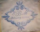 Wedding dress label name of groom and bride sew it in the inside of the wedding dress something blue