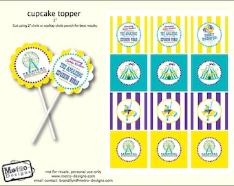 Baby Shower Carnival - Party Tags