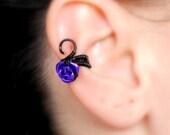 No piercing earcuff/Rose ear cuff/Ear cuff/no pierce earring/single earring/gifts/wire wrapped earcuff/wire wrapped earring