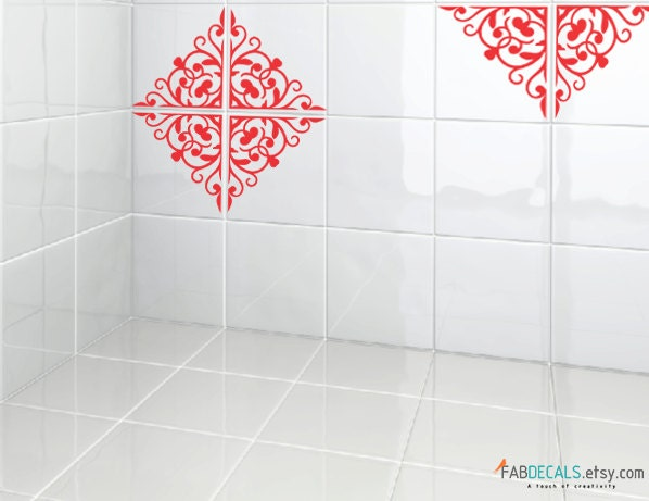 Kitchen bathroom tiles decoration vinyl decal moroccan for Bathroom tile stickers