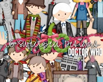 Doctor Who Digital Scrapbooking Kit
