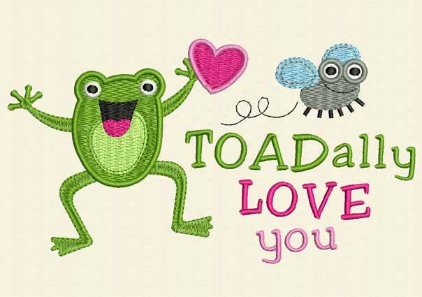 Funny frog machine digital embroidery design va