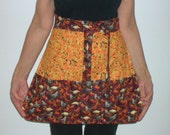 Reversible Half Apron Chickens & Corn Cobs w/Pockets