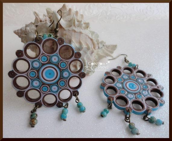paper earrings handmade paper jewellery tutorial - photo #29