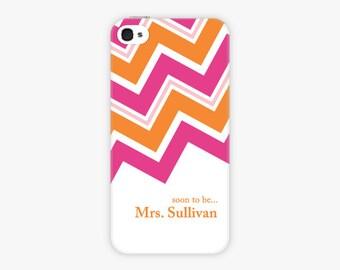 Custom iPhone Case -  Future Mrs Phone Case Chevron, iPhone Cases, Bride iPhone Case, Engaged iPhone Case, Engaged Phone