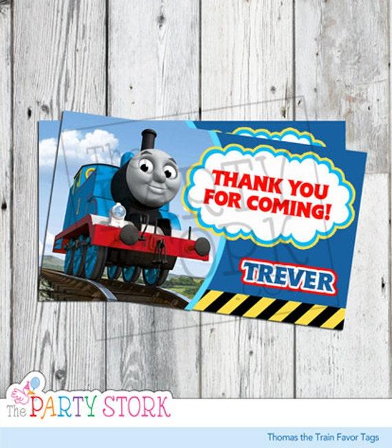 Thomas The Train Face Thomas The Train Favor Tags