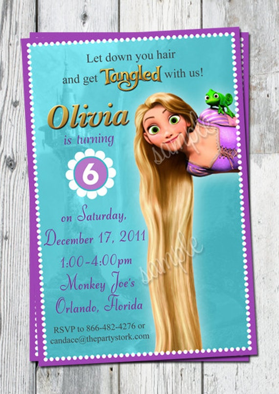 Tangled Invitation Tangled Birthday Rapunzel Invitation Tangled