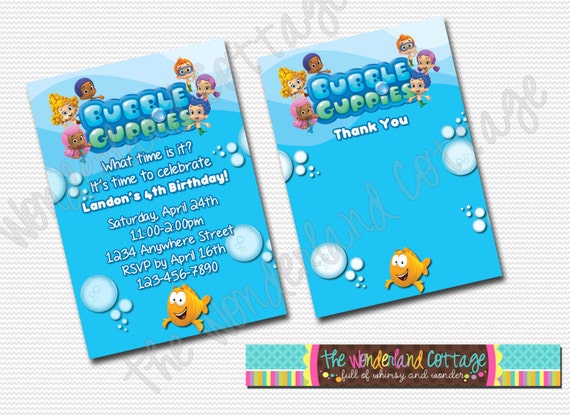 Bubble Guppies Birthday Invitations Template for good invitation layout
