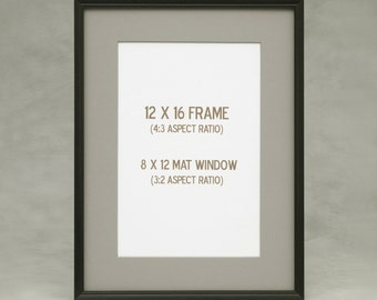 12x15 12x16 13x15 13x16 peruvian walnut frame attractive dark exotic wood straight grain fine finish slim molding good for matted art