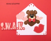 RESERVED FOR KAREN Swak Valentines Day premade Scrapbook Paper Pieced Love Hearts