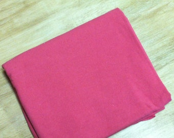 Silk Noil Fabric / Pink Silk Fabric / Raw Silk Fabric / Bubble Gum Pink Silk Noil Fabric / Silk Fabric