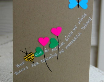 Teacher Appreciation Card - Wings