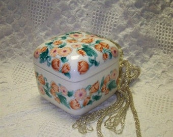 Porcelain Trinket Box Japan Trinket Box Porcelain Trinket Box Poppy Ceramic Box