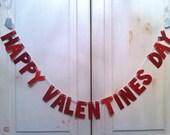 Happy Valentines Day Banner -- Valentines Day Decoration / Photo Prop