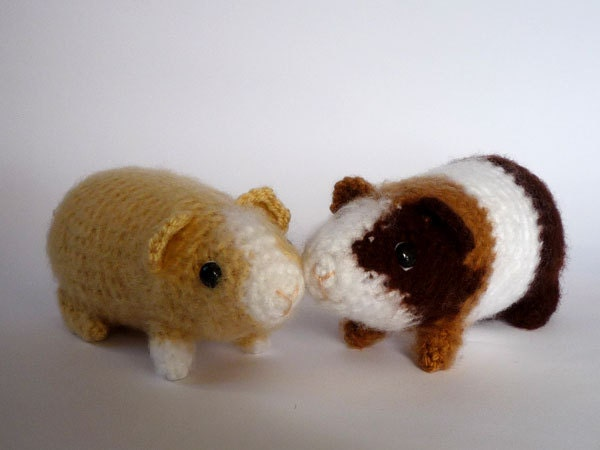 Guinea Pig Toys : Guinea pig plushie realistic crocheted toy
