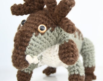 Crochet amigurumi prehistoric non-dinosaur Estemmenosuchus mirabillis