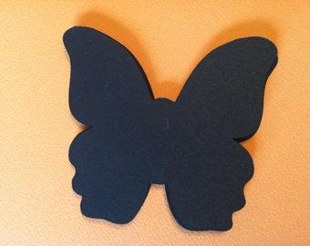 Black butterflies, die cut cardstock butterflies  (25count)