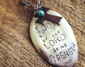 the JOY of the LORD spoon necklace