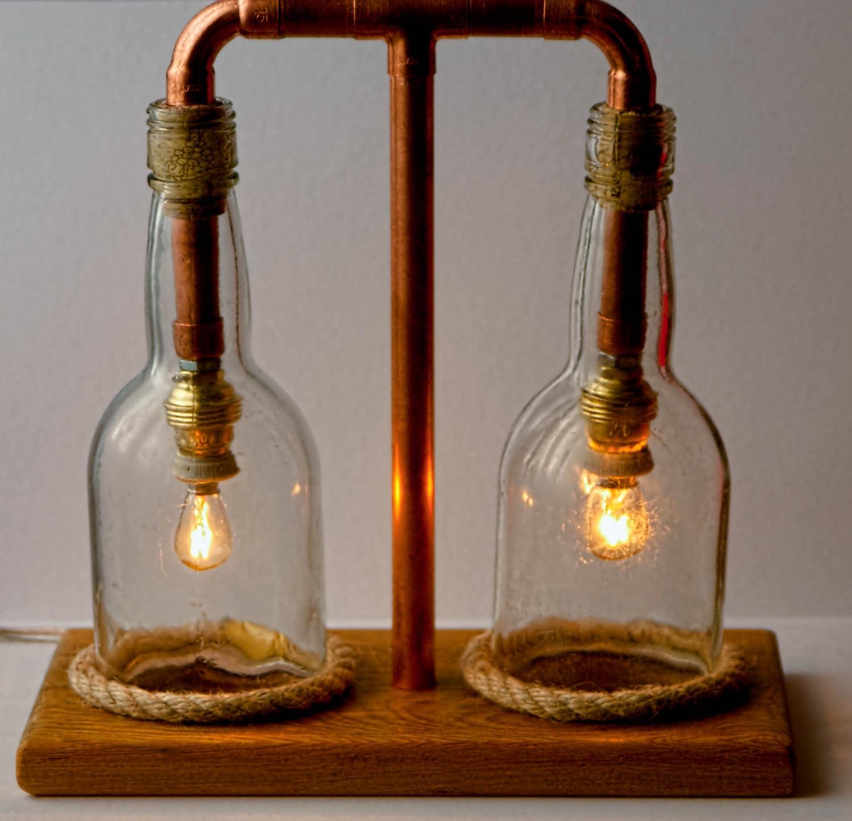 Copper Lamp Glass Lamp Steampunk Lamp Seaside Style Lamp