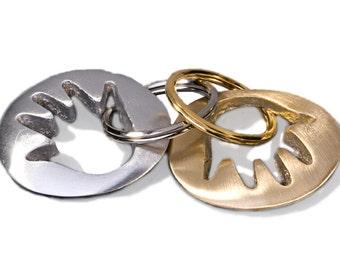 Hamsa Key Ring, Hamsa Key Chain (Brass)