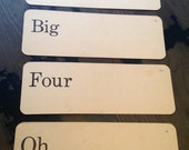 The BIG FOUR OH Fortieth 40th Birthday Party Vintage Flash Cards Vocabulary Flashcards Scrapbook