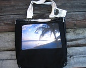 Palm in Sunset Girly Tote/ Purse by Dharma Love
