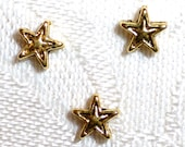 Star Shaped Gold Metal Spacer Beads - Pack of Fifty
