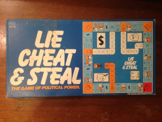 Vintage 1970's Lie Cheat and Steal Board Game in Mint Condition