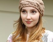 Cable Knit headband in Taupe