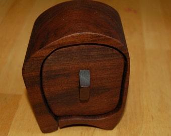 Bandsaw Box made from Walnut, jewelry, trinkets, treasures, gift