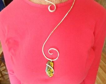Hammered Gold Collar