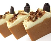 Pumpkin Latte Cold Process Soap - coffee and pumpkin spices with vanilla - hellogorgeousbath