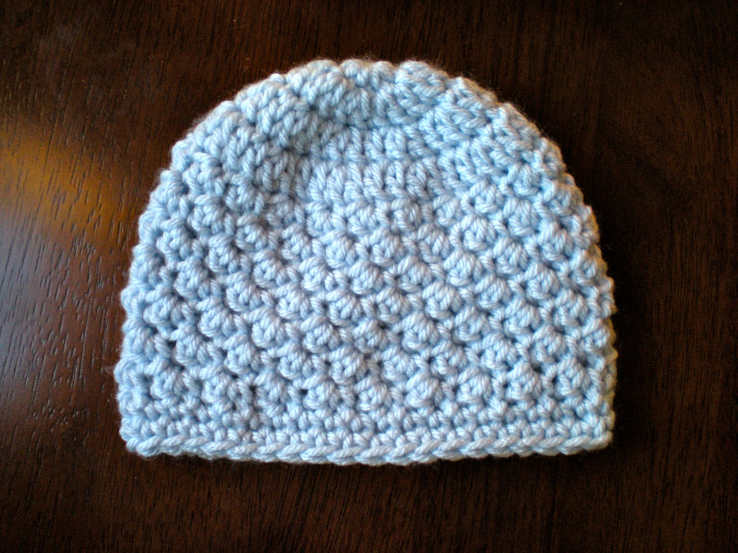 Pattern Textured Beanie Easy Crochet Pdf Instant Download