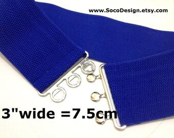 Wide Waist Belt, Waist Belt, Belt, Elasticated Belt,  Royal Blue Elasticated Belt No. R023
