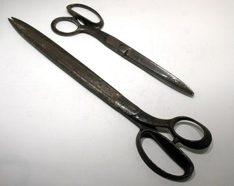 Antique Scissors - Henry Seymour Cutlery Co Scissors - Antique Banker's/Stationery Shears/Paper Scissors - Antique Tools - Long Scissors