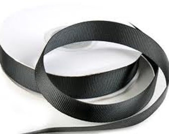 "5 yards Black Grosgrain Ribbon  5/8"" wide"