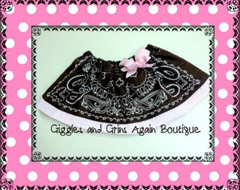 Boutique Bandana Skirt -  Just for the Little Cowgirls - All Colors - 6 months to 6 years