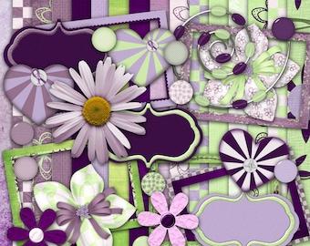 Lavender Essentials Digital Scrapbook Kit
