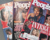 Set of 3 People Magazines. 1984, 1990 and 1991
