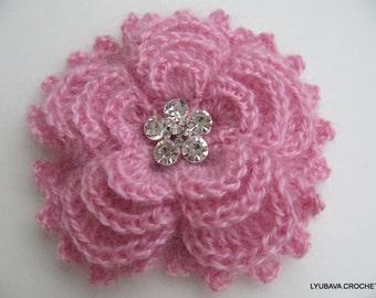 CROCHET PATTERN, Flower Crochet Pattern, Crochet Brooch, Flower Broch, DIY Flower, Instant Digital Download Pdf Pattern No.84